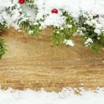 Christmas snow background — Stock Photo