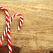 Christmas candy canes — Stock Photo