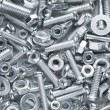 Nuts and bolts background — Foto de stock #32621051