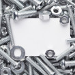 Nuts and bolts frame — Foto de stock #32621067