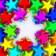 Colorful stars — Foto de Stock