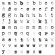 Vintage typed alphabet — Stock Photo