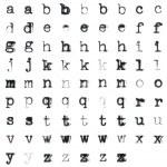 Vintage typed alphabet — Stock Photo