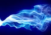 Bright blue smoke — Stock Photo