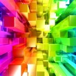 Rainbow of colorful blocks — Stock Photo
