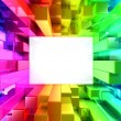 Rainbow of colorful blocks — Stok Fotoğraf #33718713