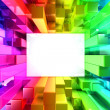 Stock Photo: Rainbow of colorful blocks