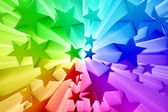Colorful burst of stars — Stock Photo