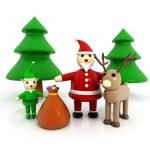 3d Santa Claus — Stock Photo