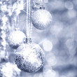 Silver Christmas decorations — Stock Photo #34225389