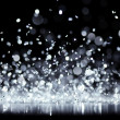 Bright silver glitter — Stock Photo