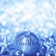 Stock Photo: Blue Christmas background