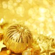 Golden Christmas background — Stock Photo #35578589