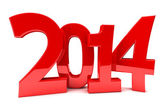 2014 in shiny red numbers — Stock Photo