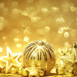 Golden Christmas background — Stock Photo #35893223