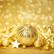 Golden Christmas background — Stock Photo #36481629