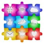 Social media puzzle — Stock Photo #45618767