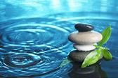 Balanced stones in water — Photo