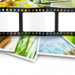 Stack of photos with blank film — Stock Photo #47396175