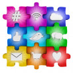 Social media puzzle — Stock Photo #47396337