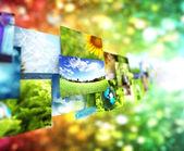 коллаж изображения фона — Стоковое фото
