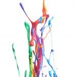 salpicaduras de pintura colorida — Foto de Stock   #50961457