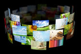Collage of images background — Stock fotografie