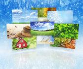 Samling av bilder — Stockfoto