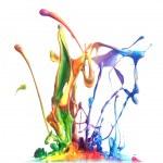 salpicaduras de pintura colorida — Foto de Stock