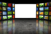 Tv screeen with images — Stock Photo