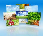 Sammlung von bildern — Stockfoto