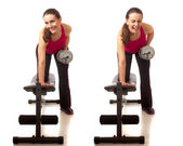 Bent-Over Row — Stock Photo