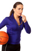 Women's Basketball Coach — Stock Photo