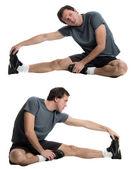 Muž táhnoucí se — Stock fotografie