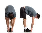 Man Stretching — Stock Photo