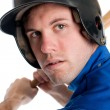 Stock Photo: Baseball Player Head Shot