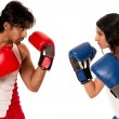 Постер, плакат: Male and Female Boxers