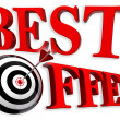 Best offer red logo — Stock Photo