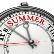 Summer time concept clock — Stockfoto