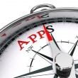 Stock Photo: Apps conceptual compass