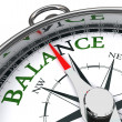 Balance compass conceptual image — Stock Photo