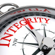 Integrity conceptual compass — Stock Photo #13250813