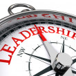 Leadership conceptual compass — 图库照片
