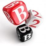B2B röda vita svarta block — Stockfoto