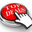 Stock Photo: Top deals red button and pointer hand