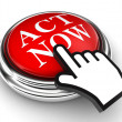 Act now red button and pointer hand — Stock Photo #13251602