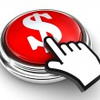 Dollar symbol red button and pointer hand — Stock Photo #13251972