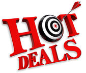 Hot deals red logo — Stock Photo