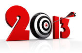 2013 new year and conceptual target — Stock Photo