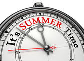 Summer time concept clock — Stock Photo